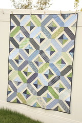 baby boy navy blue and green quilt photo by amy smart