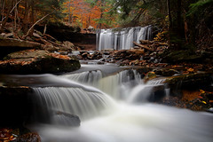 Ricketts Glen: Oneida Falls (redux) photo by Shahid Durrani