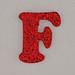 Christmas Sparkle letter F