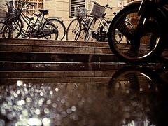 Rainy night photo by imsuri