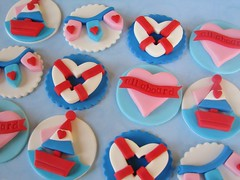 Love Boat Valentine Cupcake Toppers photo by Lynlee's