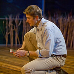 Erik Hellman (Trick) in HESPERIA at Writers Theatre. Photo by Michael Brosilow.