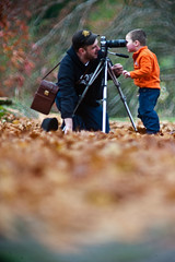 chris shoots his son.   800mm man.   lens photo by joeysoliver
