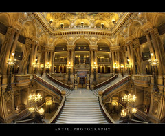 The Grand Staircase of Palais Garnier Opera House, Paris, France :: HDR photo by :: Artie | Photography ::
