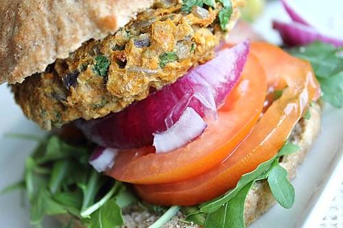Vegan Spelt Bean and Seed Burger (9)