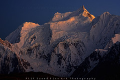 Malubiting Peak 7458m (Last Light) photo by M Atif Saeed