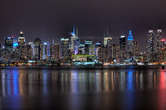 NYC Skyline at night - w blue empire state building photo by Jason Pierce Photography