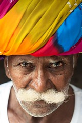 Incredible India | Colorful portrait  |  Beautifull man photo by galibert olivier