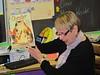 Mana reading a book in Carina's class. Dec 9, 2011