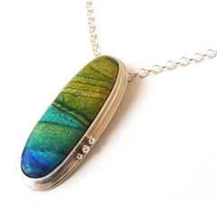 Polymer pendant photo by Rebecca Geoffrey