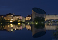 Planetarium Copenhagen - blue hour long exposure photo by Ivan Naurholm. thanks for more than 300.000 views