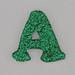 Christmas Sparkle letter A
