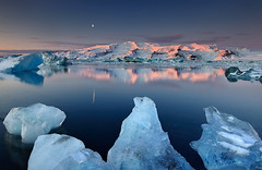 Dormant Giant - Öræfajökull reflected in Jökulsárlón, Iceland photo by orvaratli