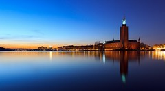 Stockholm City Hall (Stockholms stadshus) Blue Hour photo by Maria_Globetrotter