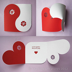 YinYang Valentine Card photo by Paper Zen / Cecelia Louie