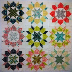 all nine swoon blocks!!!!!! photo by rainbow robot