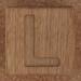 Wooden brick letter L