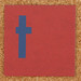 Cardboard blue letter t
