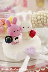 Wedding Cake Topper-love bunny and rabbit photo by charles fukuyama