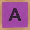 Foam brick letter  A