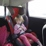 Amy trying out the next size car seat<br/>19 Feb 2012
