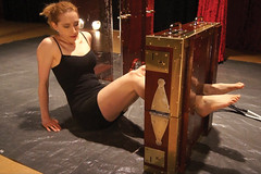 Harry Houdini's Chinese Water Torture Cell photo by Dayle Krall:Most Accomplished Female Escape Artist