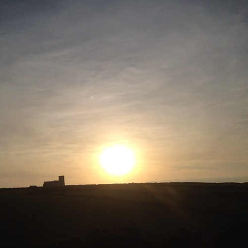 Sunset over Tintagel Castle (where king Arthur is rumoured to have been conceived) #nofilter #cornwall #tintagel