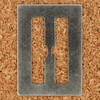 Stencil Type Letter H