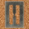 Stencil Type Letter H