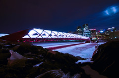 Calgary's new pedestrian Peace Bridge. photo by Etownbeatdown