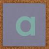 Cardboard green letter a
