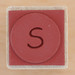 Rubber Stamp Letter S