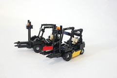Forklifts. photo by Lego Junkie.
