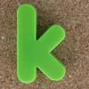 Magnetic letter k