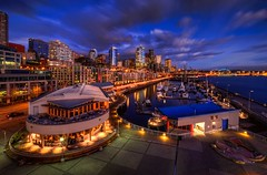"""Seattle Waterfront at """"Blue Hour"""" photo by Fresnatic"""