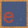 Cardboard red letter e