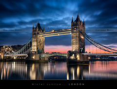WInter sunrise on Tower Bridge, London photo by Beboy_photographies