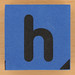 Blue foam brick letter h