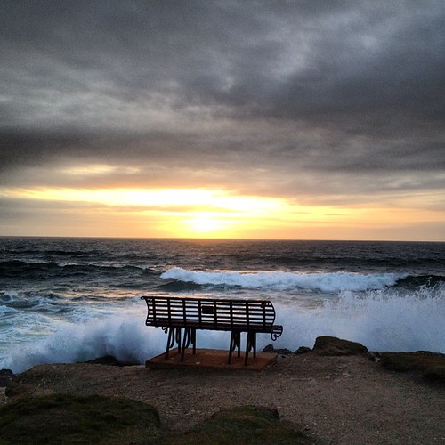 If you're going to have a commemorative bench, the edge of the Atlantic seems a good spot