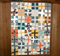 Happy Camper Wonky Cross Quilt photo by QuiltsByEmily