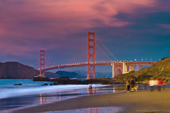 Sun Set View of Golden Gate from Baker Beach photo by Na[V]eeN