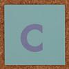 Cardboard letter c