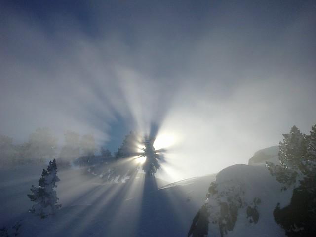 nieve y cadena pirenaica