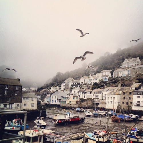 A gray day in Polperro