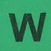Foam brick letter W