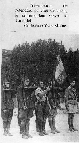 1944- Lyon- Etendard du 11e Cuirassiers