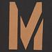 Stencil Letter M