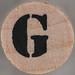 studio g Stamp Set Stencil Letter G