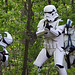 Troopers fire from the trees