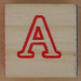 Wooden Brick Letter A